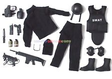 """1 x New Set of 1/6 SWAT Police Uniform Guns & Accessories For 12"""" Action Figures"""