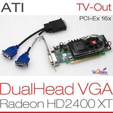 256 MB ATI RADEON  HD2400 XT PCIe DUALHEAD 2x VGA GRAFIKKARTE WINDOWS XP 7 8 G13