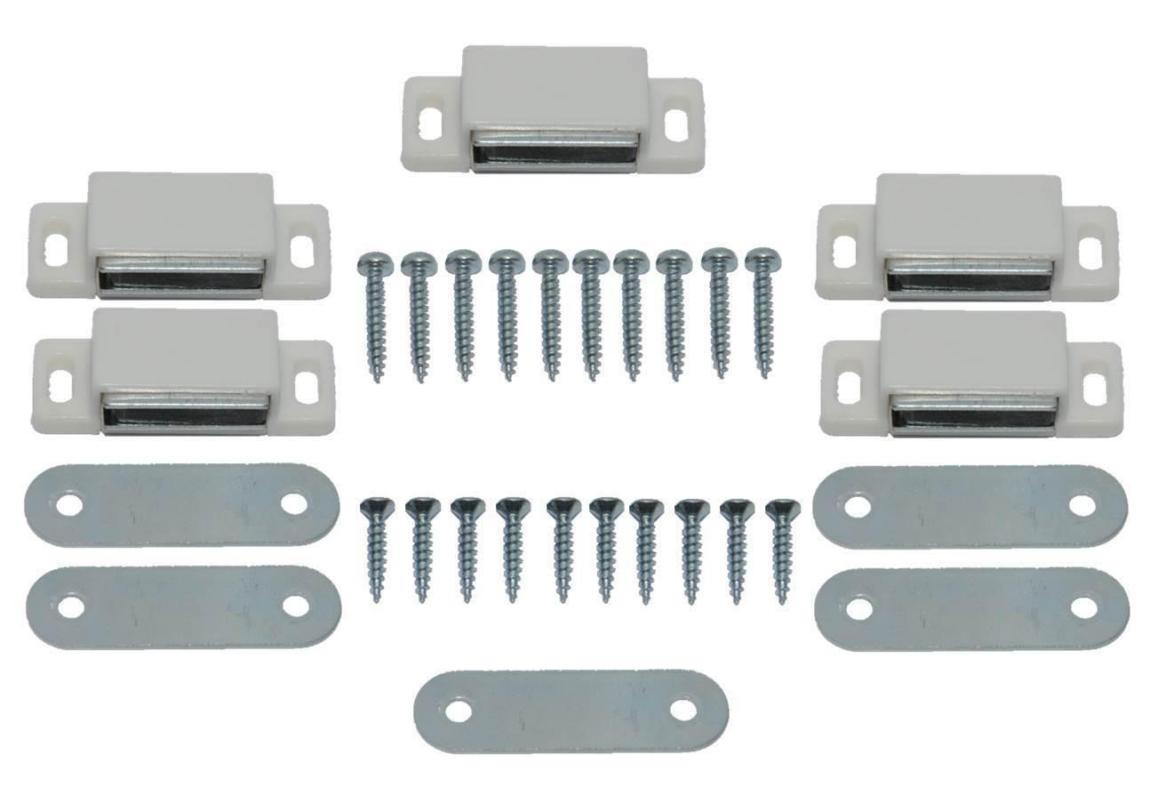 5 x Magnetic Cabinet Cupboard Door Catch 4kg 46mm Self-Aligning Magnet New