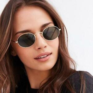 Shades Eyewear Sunglasses Retro Women Vintage Oval Frame Fashion CrBodWxe