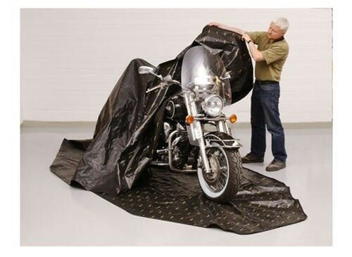 Zerust Rust Protection Motorcycle Storage Soft Cover with Soft Storage Lining -145 in x 70 in 352e4b