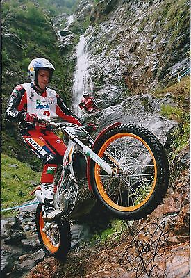 Dougie LAMPKIN Signed 12x8 Photo In Person Champion Rider AFTAL COA Autograph