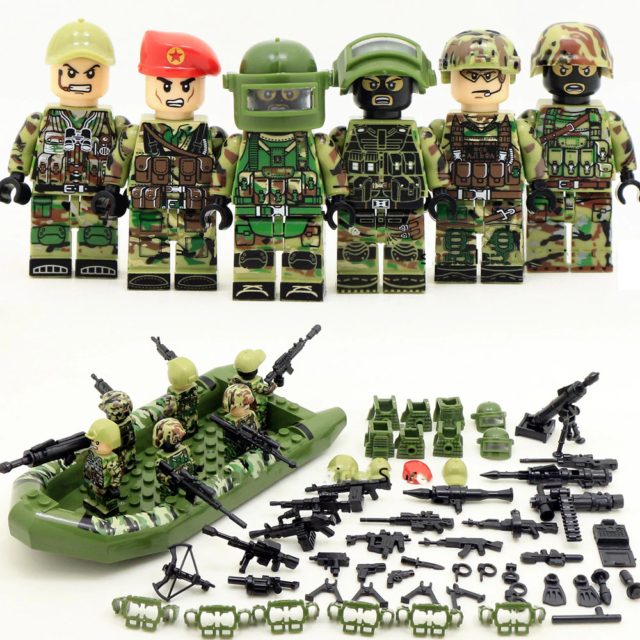 WW2 Soviet Soldiers Army Military Gun Weapons Figures Lego Custom.