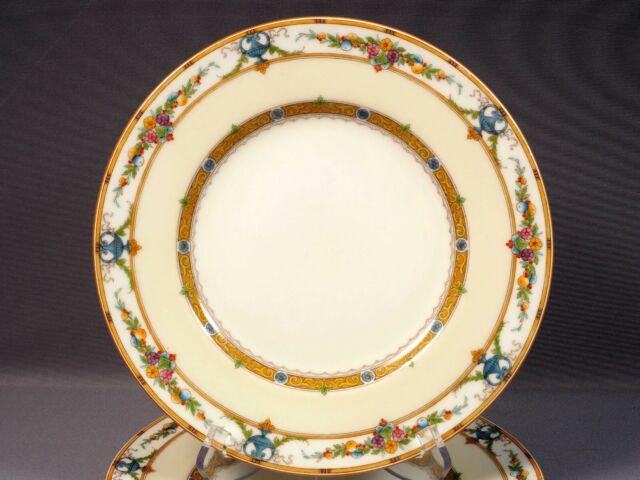 Minton HELENA Dinner Plate(s) Rare Raised Enamel Fruit Urns 1056 England