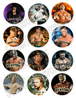 Wrestling Wwe Party Supplies 12 Pins Buttons Favors Decoration Birthday Treats