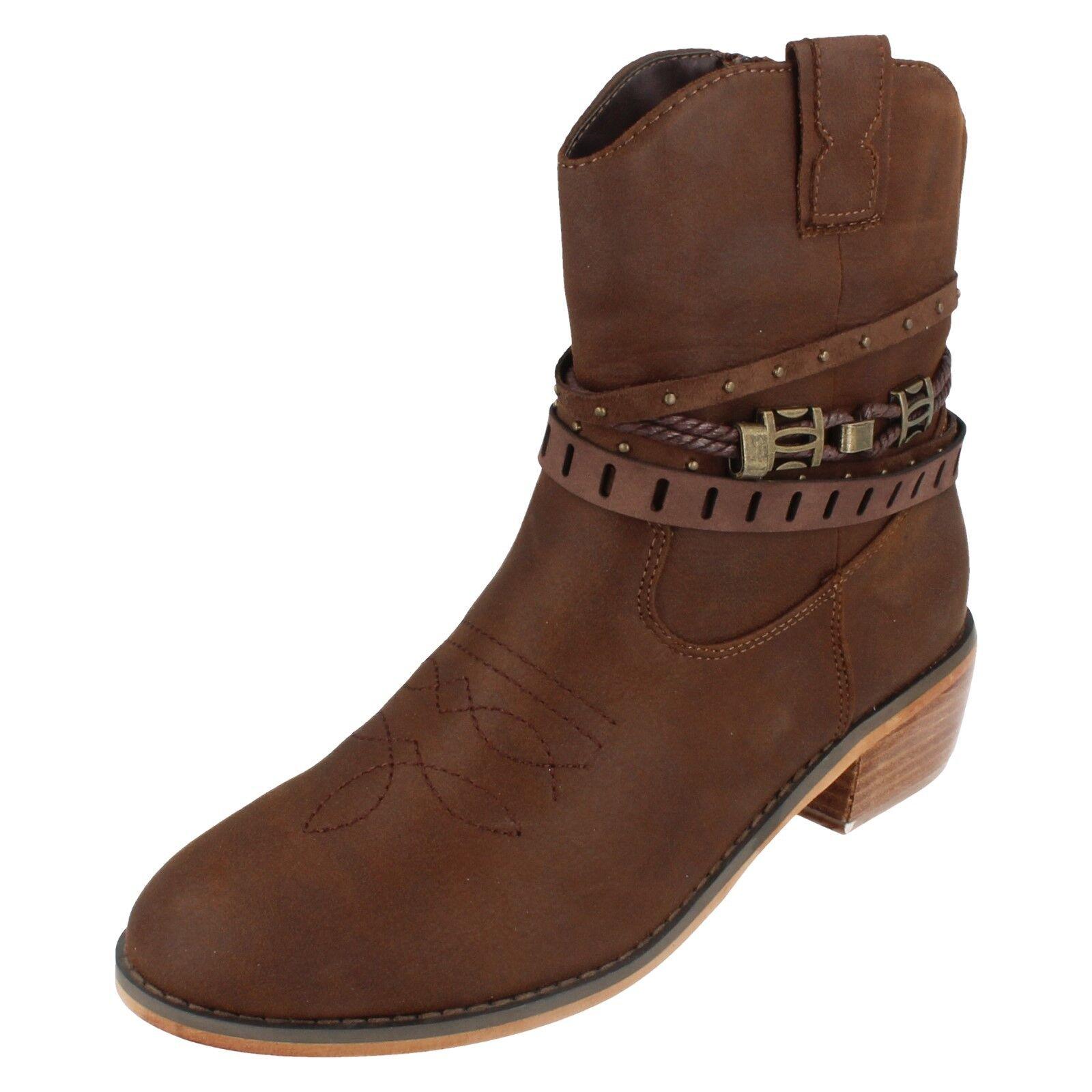 Damen F5R0950 To Cowboy Stil Knöchel Stiefel Down To F5R0950 Earth 44d2cc