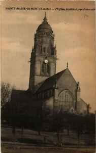 CPA-Sainte-Marie-du-Mont-L-039-Eglise-Exterieur-Vue-d-039-ensemble-633120