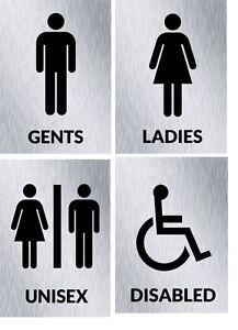 Image Is Loading Metal Ladies Gents Unisex Disabled Toilets Bathroom Door
