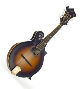 Mandolin F model Oval Sound hole Scroll Headstock Arched top Sunburst 2256