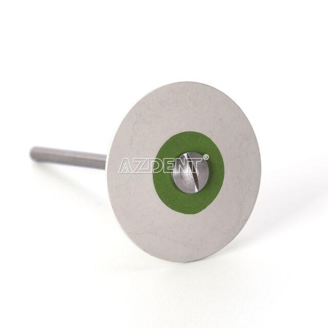 1*Dental Rubber Diamond Polisher Wheel Disc Porcelain/Zirconia Ultra Fine White