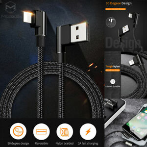 MCDODO-90-Degree-Elbow-Lightning-Data-USB-Fast-Charging-Cable-iPhone-X-8-7-Plus
