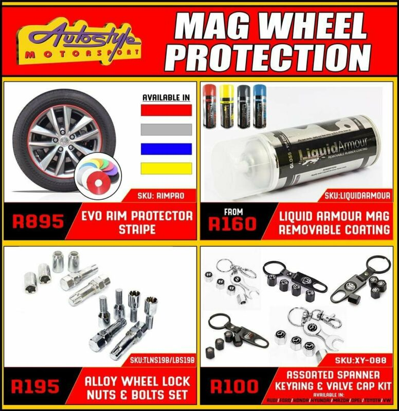 Mag wheel protection Evo Rim Protector stripe R895, protects and beautifies, assorted colors. Liquid