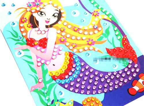 Diamond Drawing Sticker Handmade DIY Toy Painting Graffiti Kids Education H2S WL
