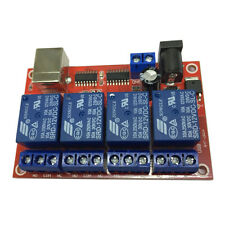 4 Channel Usb Relay Module For Smart Home Control 12v Dc