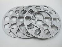 (4 Pc) 5 Lug Universal Wheel Spacers 3/16 5mm Thick 5x4.5 - 4.75 100,108,110mm