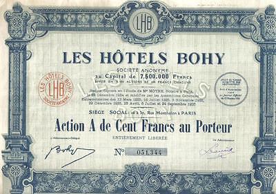 France Bond 1927 Generale Tabacs Tobacco Co 100 fr Uncancelled TOP DECO coupons