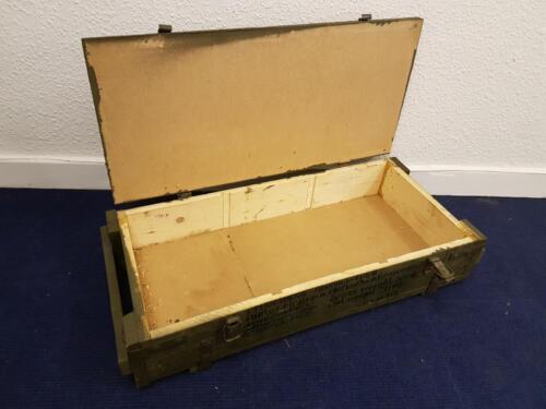 Originale Munitionskiste Holzkiste Army  Werkzeugkiste Transportkiste SKW