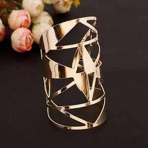 Luxury-Women-Gold-Plated-Geometric-Hollow-Punk-Bangle-Cuff-Wide-Bracelet-Jewelry