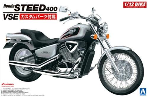 Aoshima 1//12 Honda Steed 400 VSE Metric Cruiser Motorcycle Bike PLASTIC KIT 5398