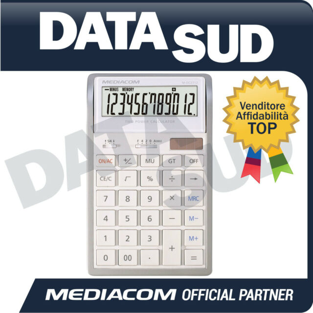 CALCOLATRICE ELETTRONICA DA TAVOLO MEDIACOM 12 DIGITS DESKTOP CALCULATORM-DC2712