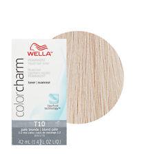 Wella Color Charm Permament Liquid Hair Color Toner 42mL Pale Blonde T10