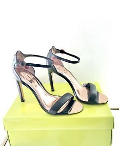 TED-BAKER-Size-7-EU-40-Black-Leather-Ankle-Strap-Sandals-New-In-Box-RRP-150
