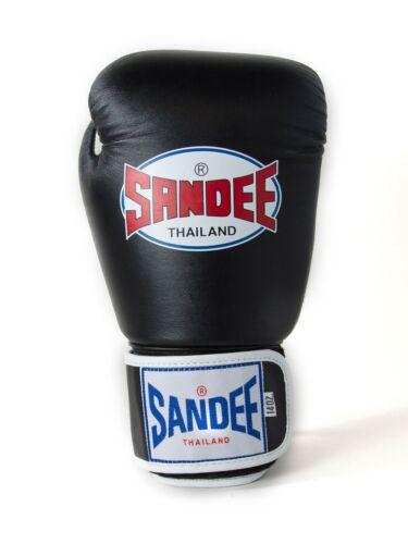 Sandee Kids Boxing Gloves Boys Girls Authentic Black Childrens Kickboxing Glove