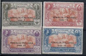 Somalia-1923-Sass-45-48-Nuovo-40-20-cent-30-c-50-c-1-L
