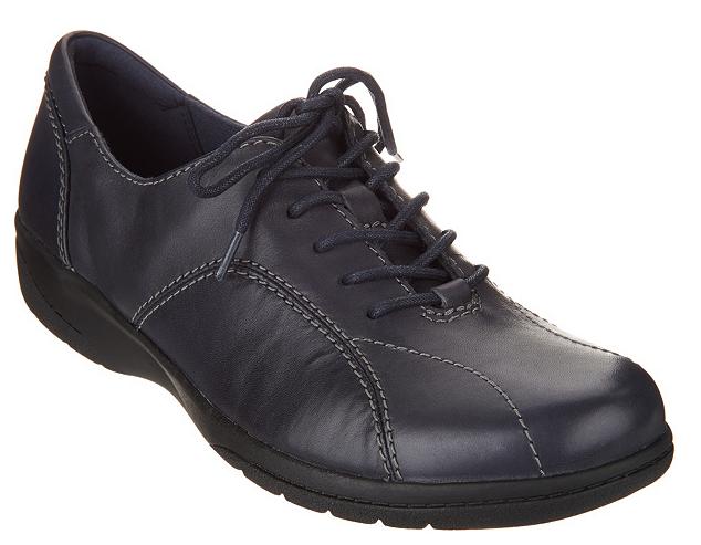 Zapatos de Cuero Cuero Cuero Clarks con Cordones-Azul Marino cheyn Ava para Mujer Talla 11 Nuevos  ganancia cero
