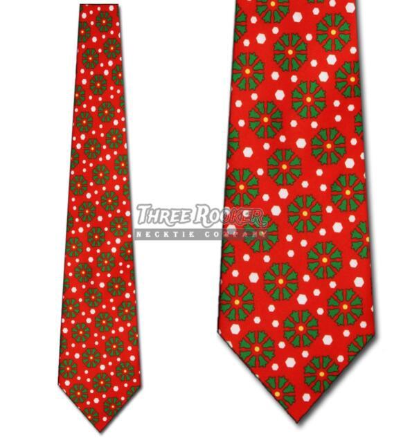 christmas tree ties snowflake necktie mens holiday neckties