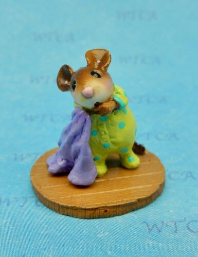 Wee Forest Folk OFF TO DREAMLAND M-555 Mouse Expo 2017 Event Green /& Purple