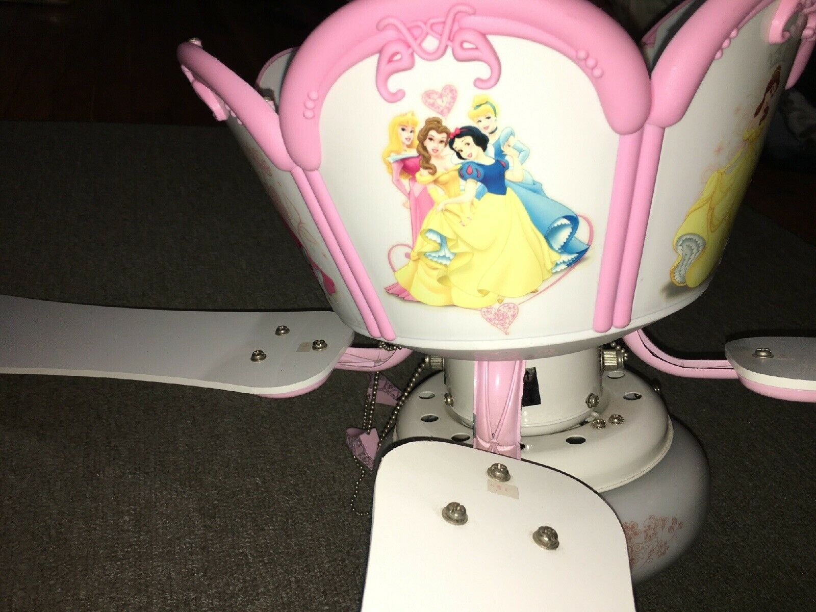 Princess Ceiling Fan Lilac Pink W
