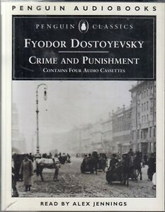 Crime-and-Punishment-Fyodor-Dostoevsky-4-Cassette-Audio-Book-Alex-Jennings