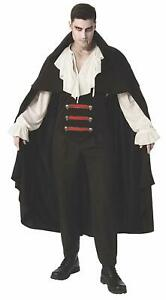 Elegant Vampire Men Costume Adult Fancy Scary Halloween Dracula Party New Outfit