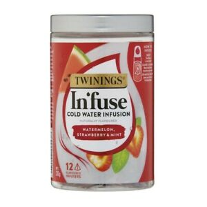 Twinings Watermelon, Strawberry & Mint Cold Water Infusion 12 pack 30g
