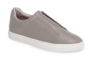 Halogen Carmen Womens Grey Leather Slip