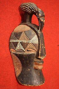 Scultura-africana-maschera-legno-dipinto-stile-antico-900-XX-collezionismo-opera