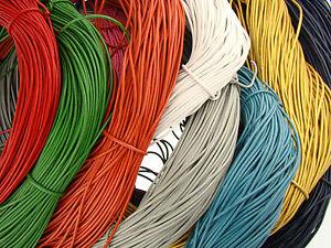 Lederschnur (ab 0,34€/m) Rund 1,5 mm. Lederband. Länge: wählbar