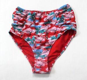 b058b4f913af6 Disney Mulan Juniors Retro Classic High-Waisted Swim Bottom Red Size ...