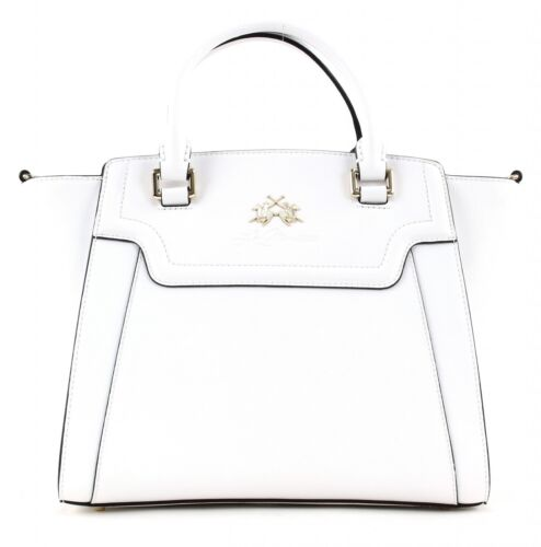 LA MARTINA Portena Alejandra Small Handtasche White