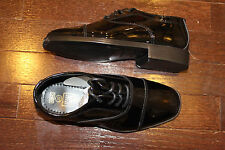 After Six A6643 Boys Baby TODDLER Tuxedo Formal Dress Shoes Black Patent 9 M