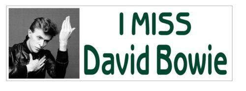 I Miss David Bowie Bumper Sticker or Helmet Sticker D3689
