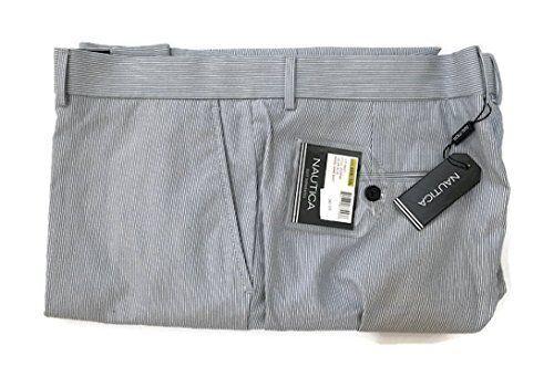 Nautica Men's Modern Fit Pin Cord Suit Separate Pants (44W x 32L, bluee Striped)
