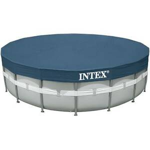 Intex ultra frame round pool above package ground swimming for Intex pool handler