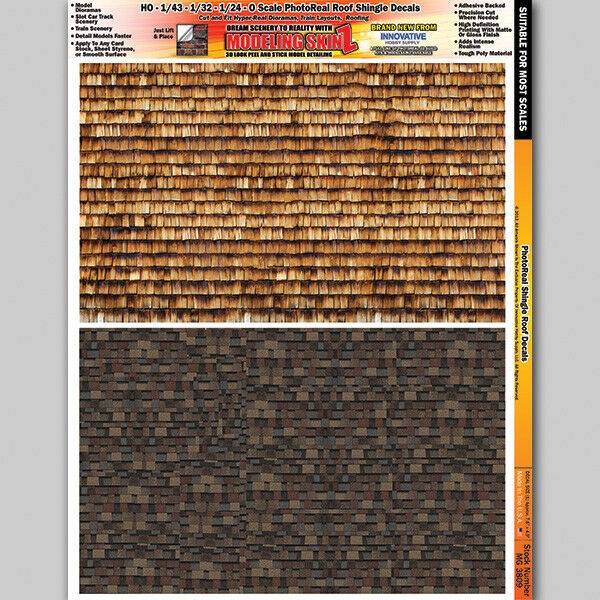 Roof Shingles Scale Model Diorama Decal Scenery Details 1
