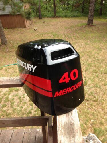 RED Mercury Outboard 90  115-250  hp  Marine Vinyl decal sticker set