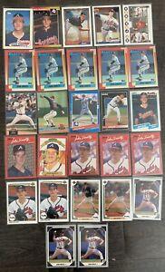 JOHN SMOLTZ Baseball Card Lot-1989 TOPPS RC|1989 Donruss Rookie ++Atlanta Braves