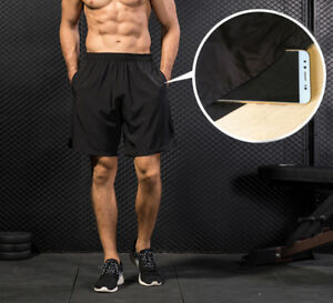 Mens Sports Workout Shorts with Pockets Gym Basketball Bottoms Plain Quick-dry