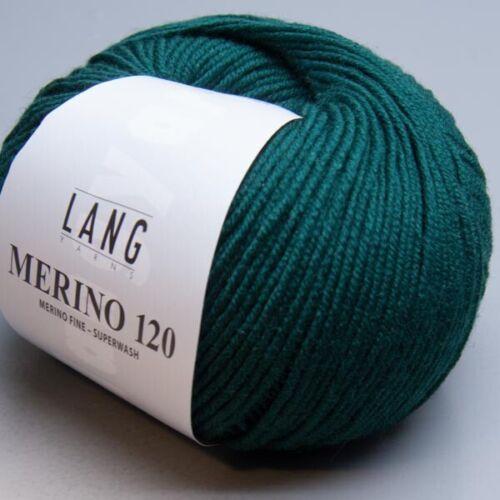 Lang Yarns Merino 120-217-LL 120 m//50 g-Aiguille force 3,5-4