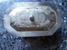 belle boite a bijoux en metal argenté